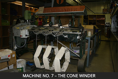 Nundle Woollen Mill Machine 7 - the Cone Winder