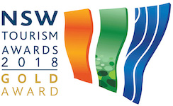 NSW Tourism Awards 2018 Gold Award