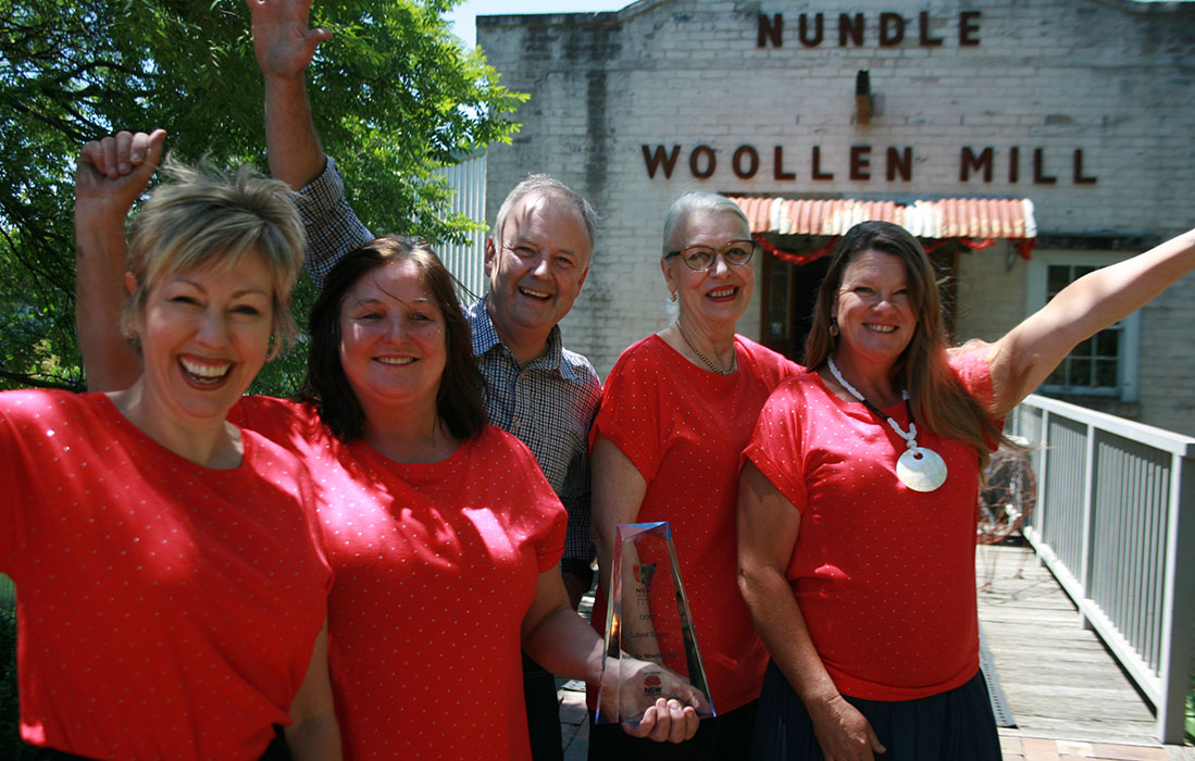 Nundle Woollen Mill winning photo - NSW Tourism Awards 2018